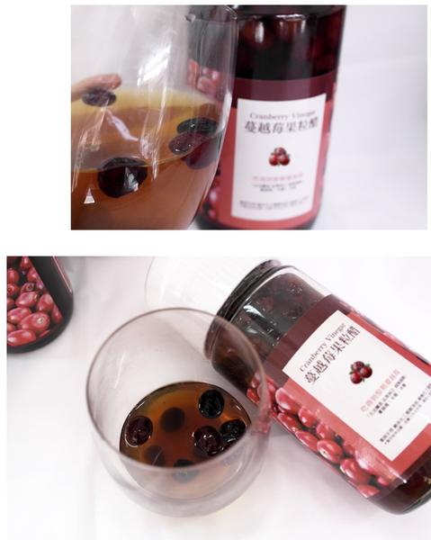蔓越莓醋(看得見整顆蔓越莓果粒)