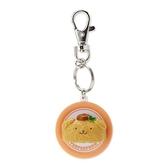 〔小禮堂〕布丁狗 立體壽司盤造型塑膠鑰匙圈《棕》掛飾.吊飾.鎖圈 4901610-13599
