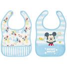 日本 迪士尼 Disney 寶貝米奇寬版圍兜兜(2件組)