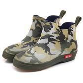 迷彩夏季時尚男士雨鞋休閑防滑水靴耐磨低幫短筒成人戶外膠潮加絨