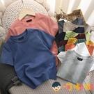 男童短袖t恤日系純棉寶寶純色T恤兒童夏季童裝半袖【淘嘟嘟】