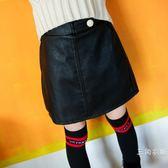 女童秋冬裝2018新款韓版兒童針織上衣毛球毛線迷你裙中小童女孩半身裙