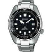廣告款 SEIKO 精工PROSPEX 200米潛水機械錶-黑x銀/44mm 6R15-04G0D(SPB077J1)