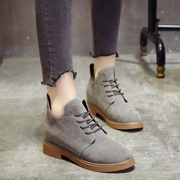 短靴 馬丁靴女英倫風學生韓版百搭機車靴復古新款百搭短靴子加絨 『夢娜麗莎精品館』