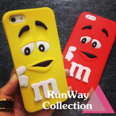 【R】超萌M豆手機殼samsung NOTE4 S6 S5可愛手機套蘋果 卡通保護套三星 S6 彩虹矽膠軟殼