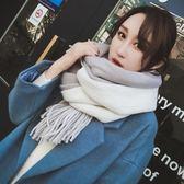 秋冬季圍巾女保暖女士針織毛線學生