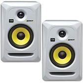 凱傑樂器 贈錄音介面 KRK RP5G3 5吋監聽喇叭(白色) 黃色單體 公司貨