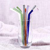 透明玻璃吸管彩色耐熱耐高溫吸管孕婦兒童