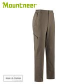 【Mountneer 山林 男四彈保暖合身長褲《卡其灰》】32S15/彈性長褲/休閒褲/保暖長褲