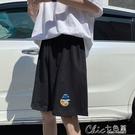 短褲女夏季寬鬆學生新款韓版潮ins顯瘦寬管褲休閒運動五分褲【全館免運】
