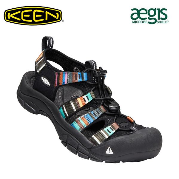 【KEEN 美國 男 NEWPORT H2 護趾涼鞋《黑/彩色》】1001942/水陸兩用鞋/戶外休閒鞋/運動涼鞋