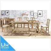 美式鄉村風布蘭頓8尺白橡全實木餐桌(18I20/A434-01)