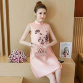 大尺碼無袖洋裝 大碼女裝夏新款無袖遮肚上衣韓版中長款洋裝藏肉 唯伊時尚