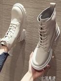 英倫風馬丁靴女2019新款秋季粗跟單靴帥氣百搭機車春秋短靴潮『小淇嚴選』