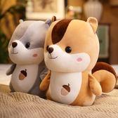 可愛小松鼠羽絨棉胖倉鼠松鼠公仔布娃娃毛絨玩具生日禮物抱枕玩偶全館免運!