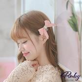 髮飾 韓國直送‧珍珠水鑽蝴蝶結髮夾-Ruby s 露比午茶