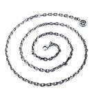 《 QBOX 》FASHION 飾品【N19N745】精緻個性仿舊六芒星斜角O形扣圈鈦鋼項鍊/鋼鍊條(0.45cm)