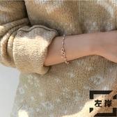 現貨 蝴蝶結手鏈韓版簡約百搭森系珍珠手飾【左岸男裝】
