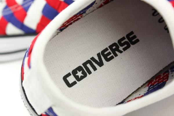 CONVERSE Chuck Taylor All Star 帆布鞋 運動鞋 低筒 白藍紅 編織 白色紅色 男女鞋 151241C no271