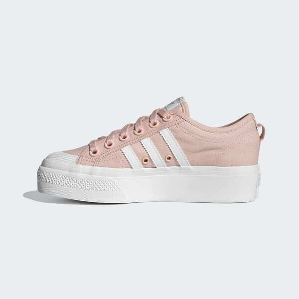 Adidas Nizza Platform W [GX5191] 女鞋 運動 休閒 板鞋 厚底 經典 穿搭 愛迪達 粉紅