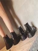 短靴馬丁靴女秋季新款英倫風學生正韓厚底單靴時尚百搭網紅短靴女 扣子小鋪