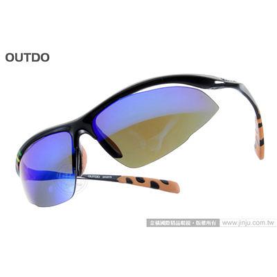 【金橘眼鏡】OUTDO太陽眼鏡 偏光運動款#TR8282 C2 黑橘色 休閒時尚型 新品上市!!(免運)