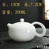 白瓷茶壺 家用泡茶壺陶瓷單壺羊脂玉瓷功夫茶具過濾西施壺 BF18382『寶貝兒童裝』