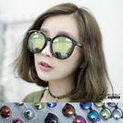 Crystal.MIT台灣製。輕透鉚釘大圓框水銀太陽眼鏡【f759】*911 SHOP*