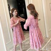 孕婦夏裝上衣新款夏天時尚孕婦裙子夏季短袖中長款孕婦連身裙 薔薇時尚