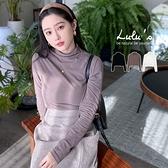 LULUS【A01200895】K自訂款-無接縫高領上衣3色
