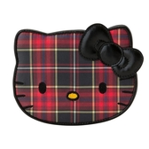 Sanrio HELLO KITTY蘇格蘭黑格紋系列大臉造型鏡★funbox★_063363
