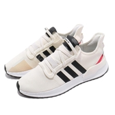 adidas 慢跑鞋 U_Path Run 米白 黑 休閒鞋 襪套式 男鞋 【PUMP306】 EE4465