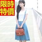 女休閒吊帶褲-修身質感率性韓版品味女褲子1色59g42【巴黎精品】