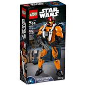 75115【LEGO 樂高積木】星際大戰 Star Wars-組裝戰士 Poe Dameron