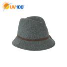 UV100 防曬 抗UV 保暖瀟灑風尚呢料英倫帽