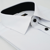【金‧安德森】白色門襟黑配色窄版長袖襯衫