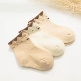 天然質感領結短筒襪 3雙組 童襪 襪子
