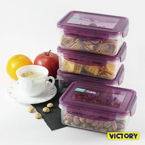 【VICTORY】長形扣式食物密封保鮮盒-800ml(4入)
