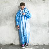 [安信騎士] BRIGHTDAY 亮采 前開 連身式 風雨衣 藍 雨衣