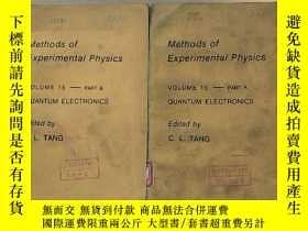 二手書博民逛書店methods罕見of experimental physics volume 15——part A+B quan