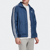J- adidas ORIGINALS 藍色 男女款 防風 立領外套 三線 三葉草 休閒 運動 透氣 深藍 FM9883
