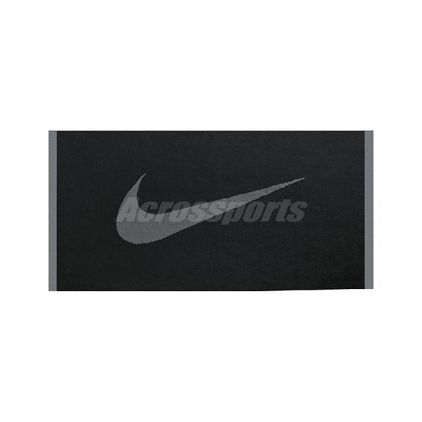 Nike 運動毛巾 Sport Towel 黑 灰 男女款 運動 訓練 【ACS】 NET1304-6MD
