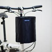 折疊自行車車筐 加厚帆布車籃單車籃子滑板電動車車簍防水車前筐igo   蜜拉貝爾