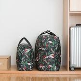 ♚MY COLOR♚花草系列大容量棉被收納袋(小) 旅行行李袋 防塵 防髒 滌綸 防水 防潮【P513】