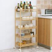 浴室置物架廚房收納架小推車可移動