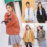 牛仔外套牛仔外套女學生新款韓版時尚百搭bf薄款繫帶長袖夾克潮 扣子小鋪