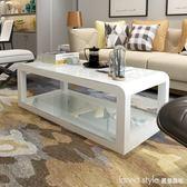 茶几簡約客廳時尚鋼化玻璃茶桌現代烤漆家用經濟型茶几電視櫃組合  IGO