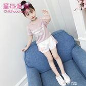 女童套裝韓版兒童時尚運動時髦兩件套潮衣中大童洋氣夏裝 道禾生活館