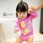 Minerva米諾娃 | 【夢幻紫藤系列】長袖包屁衣-紫藤印花