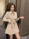 風衣 秋季新款小個子設計感中長款風衣女士英倫風高端流行收腰外套 阿薩布魯